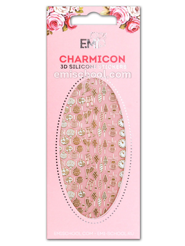 Charmicon 3D Silicone Stickers #68 Christmas Decorations