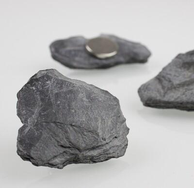 Steinmagnet Schiefer in Graphit-Schwarz