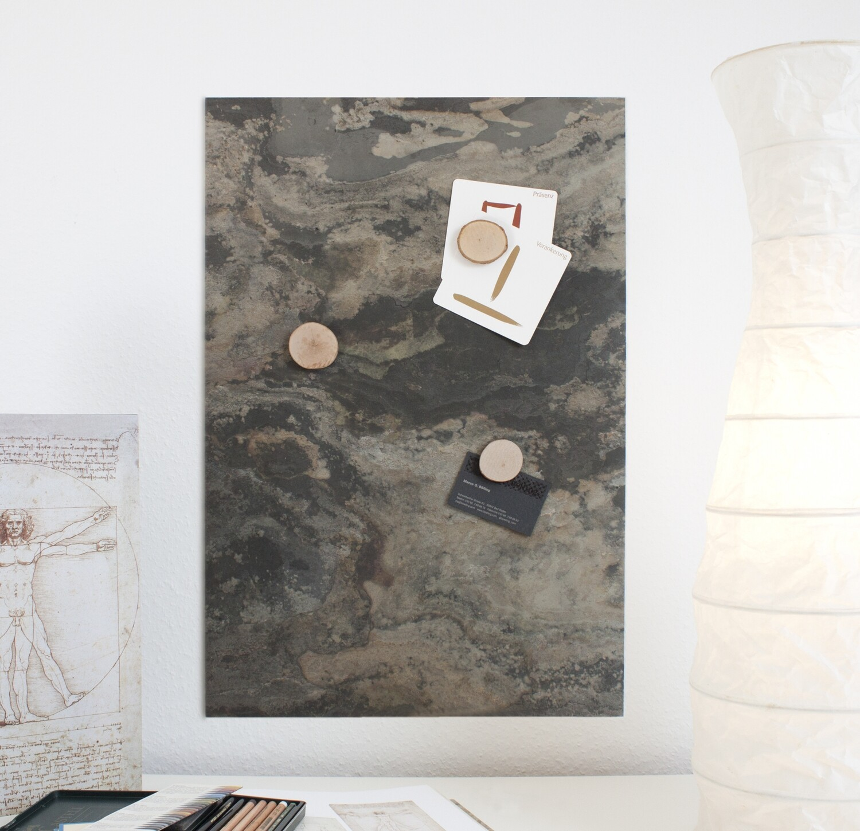 Magnettafel aus echtem Schiefer - Rustic Earth