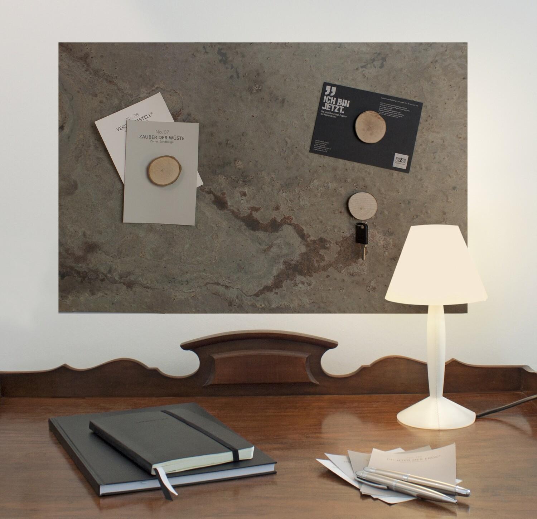 Magnettafel aus echtem Schiefer - Skin Rock