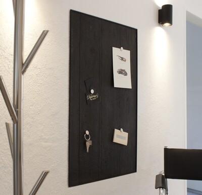 Magnettafel aus Beton ''Verbranntes Holz'