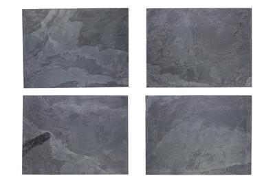 Tischsets aus echtem Schiefer - Grey Impact
