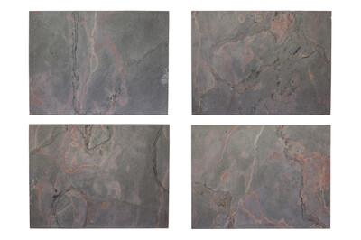 Tischsets aus echtem Schiefer - Vulcano Stone