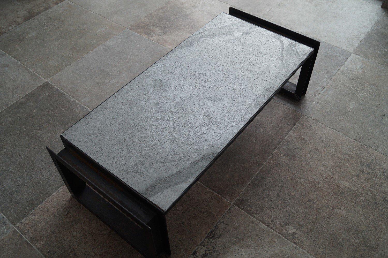 Couchtisch U-Rahmen ''Silver Grey''