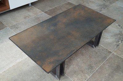 Couchtisch Feinsteinzeug ''Dark Rust''