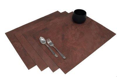 Tischsets aus echtem Schiefer - Pink Earthcore