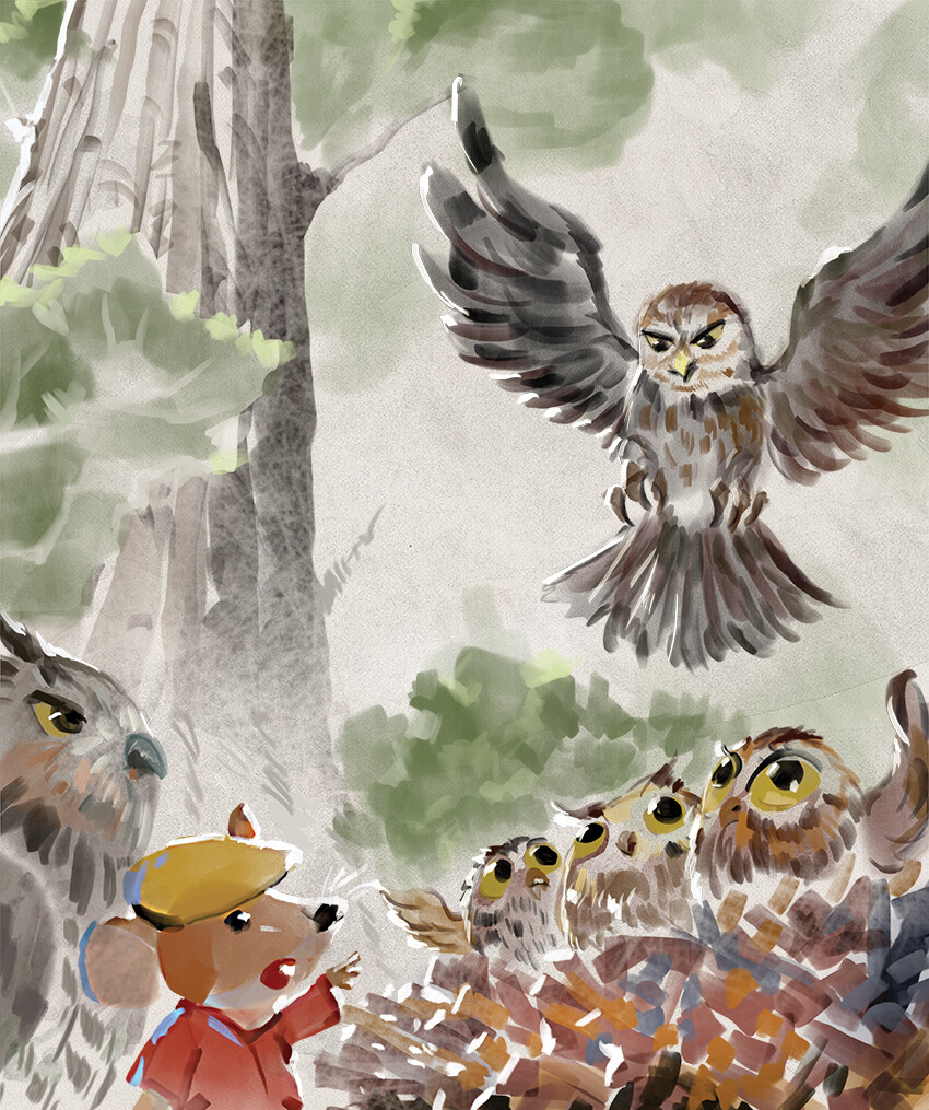 Mr Brown Mouse Helps The Owl Babies Learn to Fly AUDIOBOOK