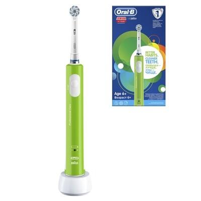 Электрическая зубная щетка Oral-B PRO 400 Junior Sensi Ultrathin Салатовая (с 6 лет)