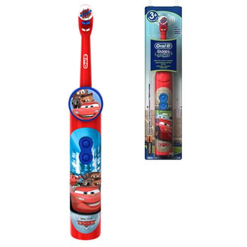 Электрическая зубная щетка Oral-B Stages Power DB 3010 Тачки (с 3 лет) с несменной насадкой