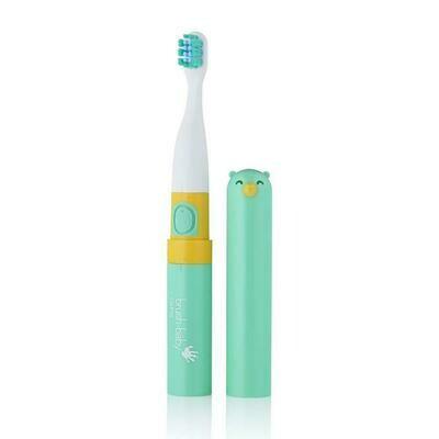 Электрическая зубная щетка Brush Baby «Go-Kidz» с 3 лет (Бирюзовая)