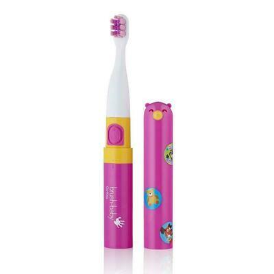 Электрическая зубная щетка Brush Baby «Go-Kidz» с 3 лет (Розовая)