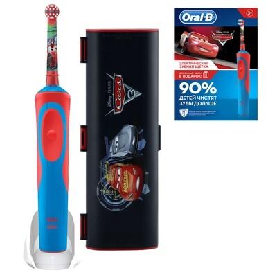 Электрическая зубная щетка Oral-B Vitality Kids Stages Power Тачки (с 3 лет) с футляром