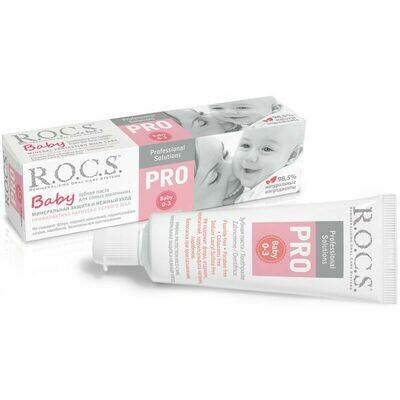 Зубная паста ROCS (РОКС) PRO. Baby. Минеральная защита и нежный уход, 45 г. (0-3 года)