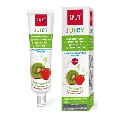 Зубная паста SPLAT для детей укрепляющая с гидроксиапатитом Киви - Клубника, 35 мл