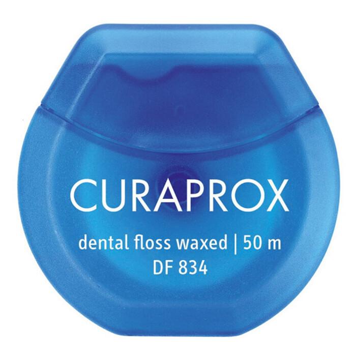 Нить вощеная мятная Curaprox DF 834, 50 м
