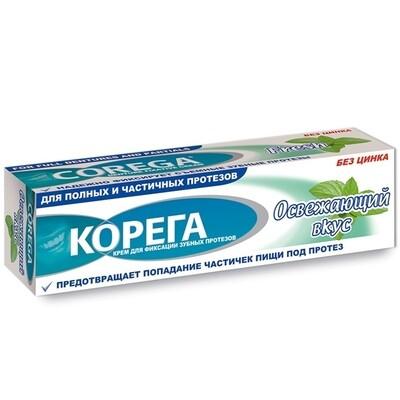 Корега крем для фиксации зубных протезов Освежающий вкус, 40 г
