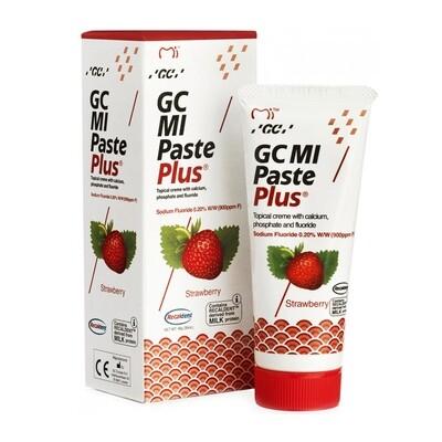 GC MI Paste Plus - крем c фтором, для реминерализации и снижения чувствительности Клубника, 40 г