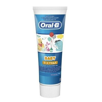 Зубная паста ORAL-B Baby для детей Мягкий вкус (от 0 до 2 лет), 75 мл