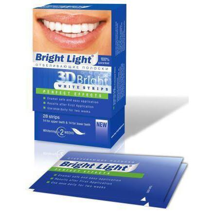 Отбеливающие полоски для чувствительных зубов Bright Light Perfect Effects