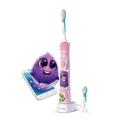 Детская зубная щетка c мобильным приложением Philips Sonicare ForKids HX6352 Розовая