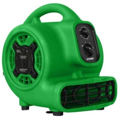 XPOWER Mini Airmover, Green, 3 Speed, GFCI, w/Timer