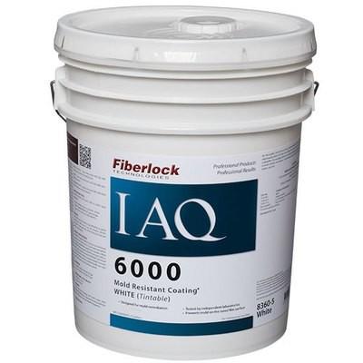 Fiberlock IAQ 6000 Mold Resistant Coating WHITE (5 Gal.)