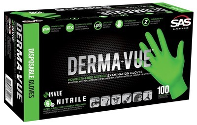 Derma-Vue Nitrile Disposable Glove Case of 10 (100 ct.)  Select Size