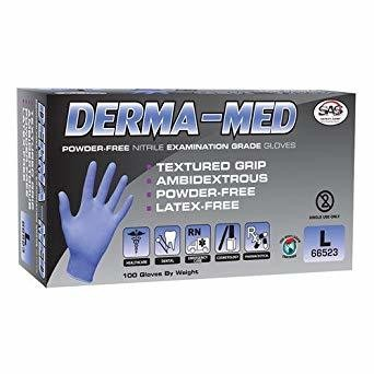 Derma-Med Nitrile Disposable Glove (100ct.) Select Size