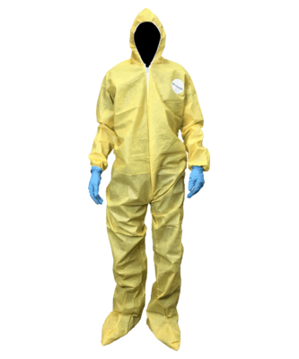 Yellow Chemical Protection Coveralls (25 ct.) Select Size