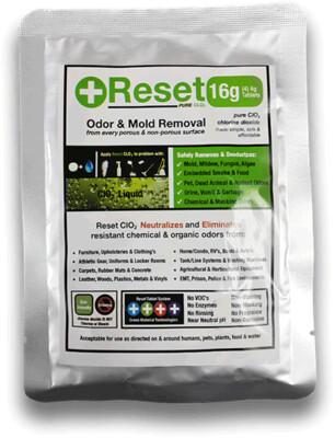 Reset Chlorine Dioxide Green Pack (16g)