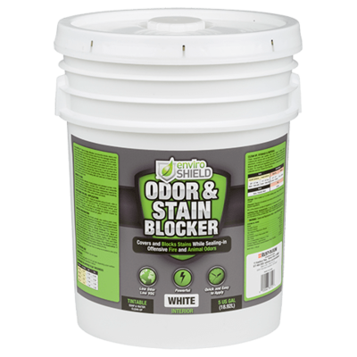 Enviroshield Odor and Stain Blocker, Wht (5 gal.)