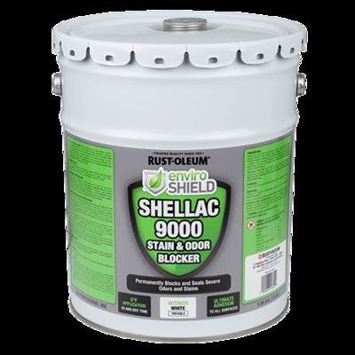 Enviroshield Shellac 9000 Odor & Stain Blocker, Wht (5 gal.)