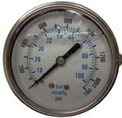 Pressure Gauge 1500psi Panel Mount