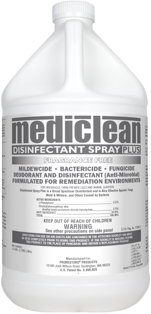 Mediclean Disinfectant Fragrance Free (Gal) - Antimicrobial