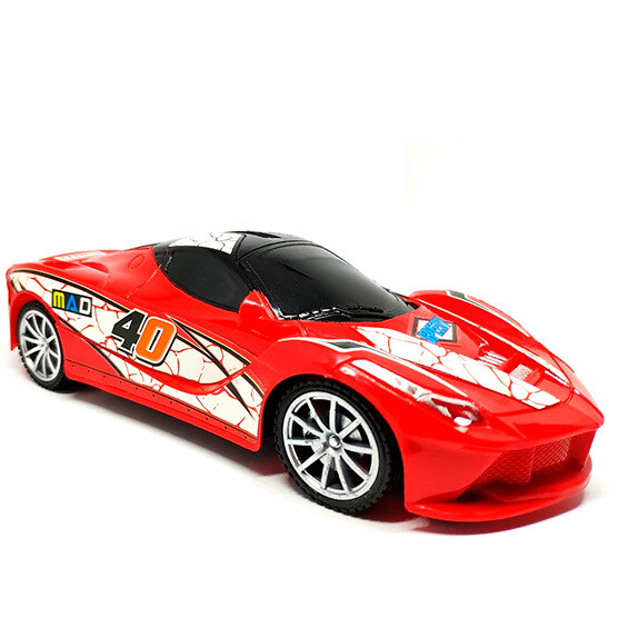 Carro de carreras de control remoto 1:22 Mediano con luces rojo
