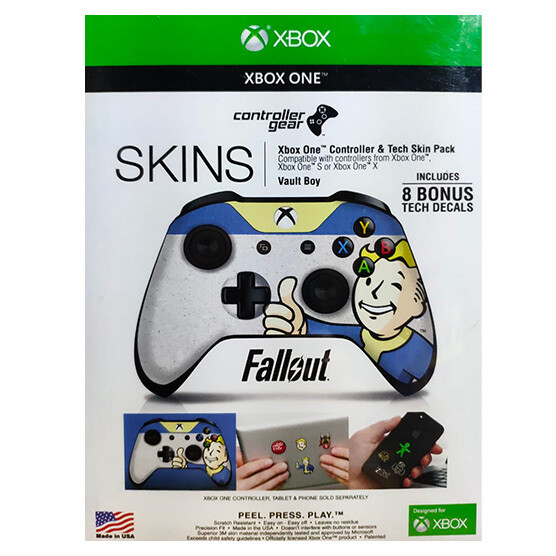 XBOX ONE Skin fallout Vault Boy para control + 8 calcomanias