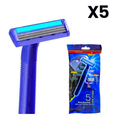 Rasuradoras 3 cuchillas X5