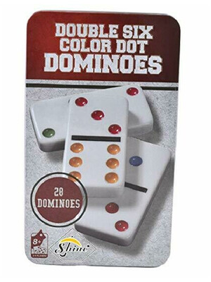 Domino caja de metal 28 piezas