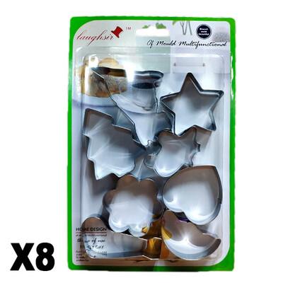 Moldes para galletas X8