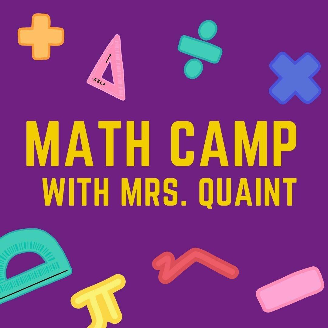 Summer Math with Mrs. Quaint