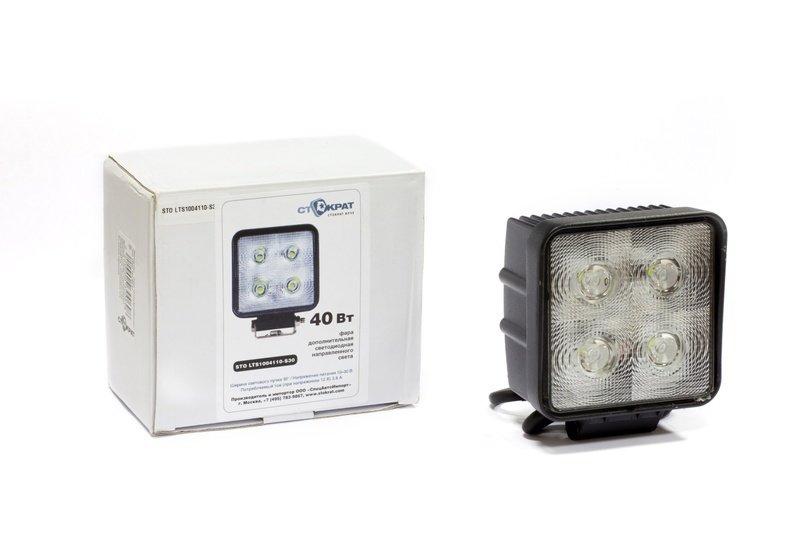Фара дополнительная светодиодная квадратная направленного света 40 Вт, 30 градусов. 00485
