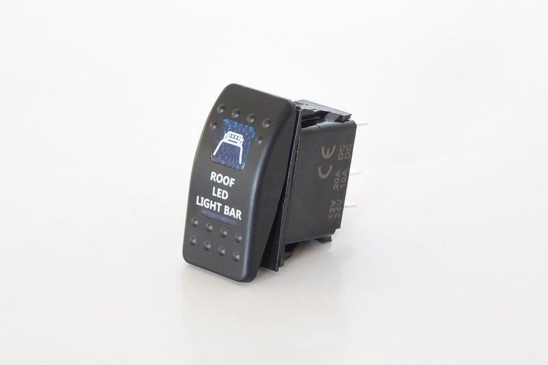 Клавишный выключатель с надписью ROOF LED LIGHT BAR Стократ 00522