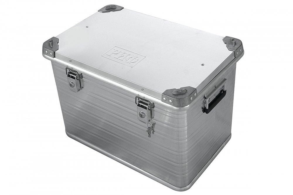 Ящик алюминиевый РИФ усиленный с замком 592х388х409 мм (ДхШхВ) 00611