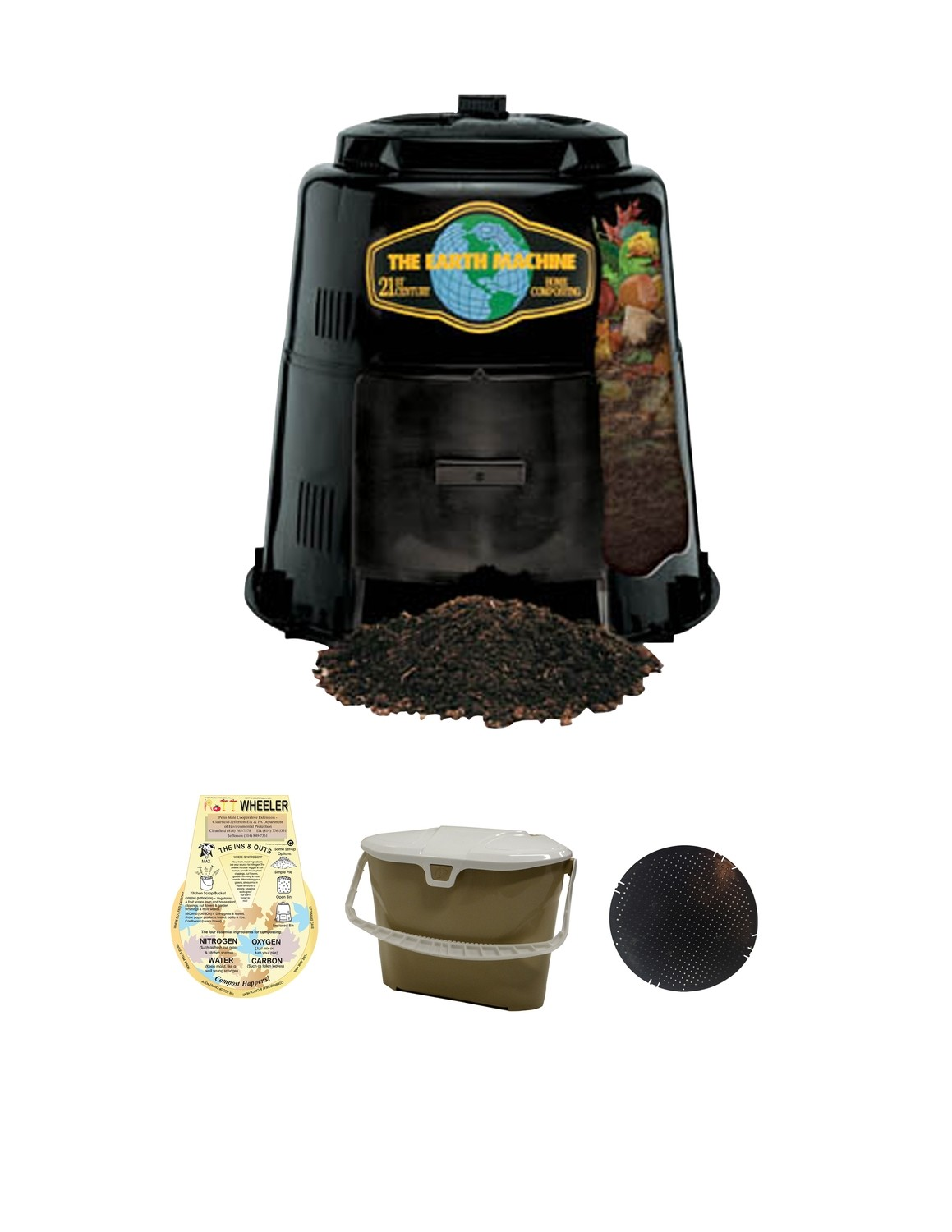 KIT 3 - Composter with Rodent Screen/Base