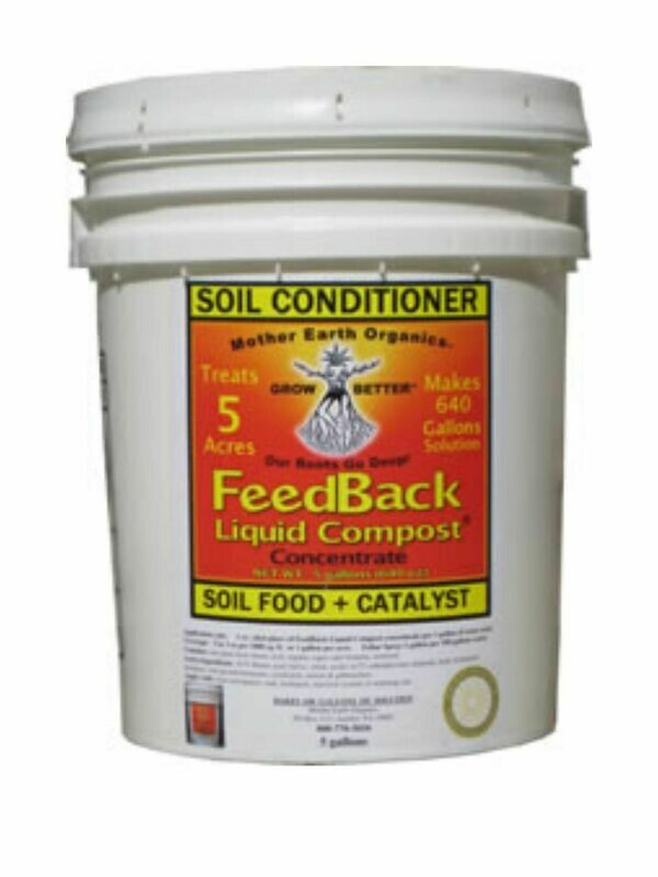 FEEDBACK LIQUID COMPOST  5gal.