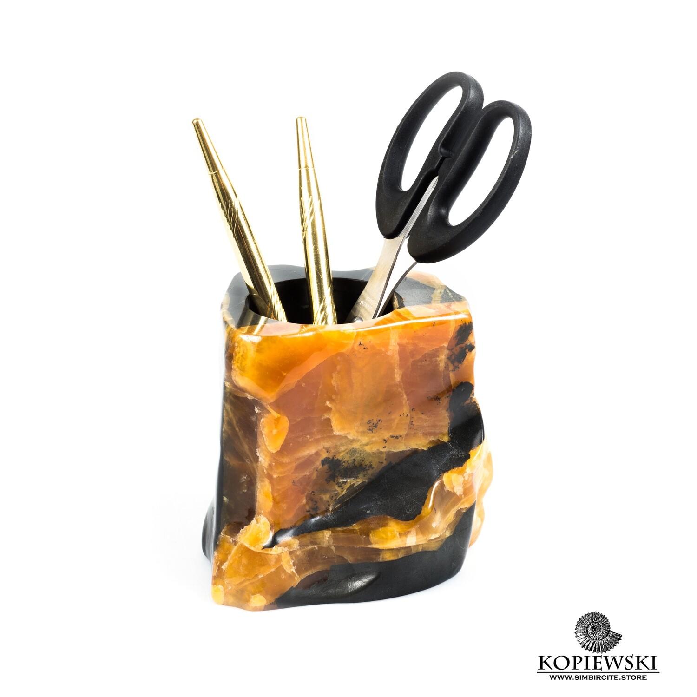 Резная карандашница Симбирцит