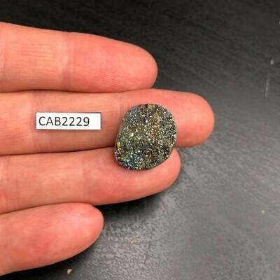 Rainbow Pyrite Cabochon