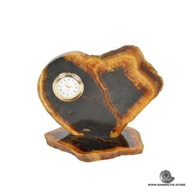 Часы срез симбирцита 16*12 см
