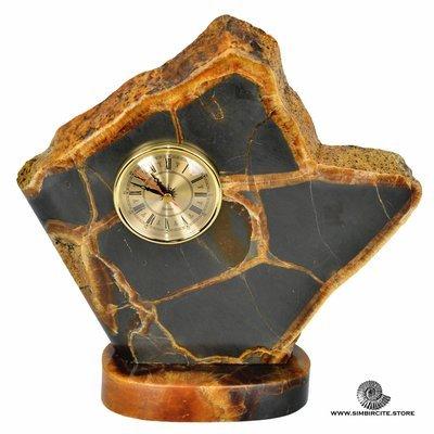 Часы срез симбирцита 30*32 см