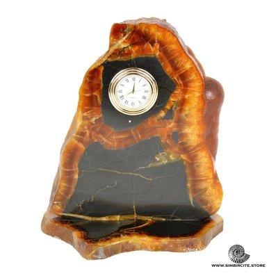 Часы срез симбирцита 12*18 см